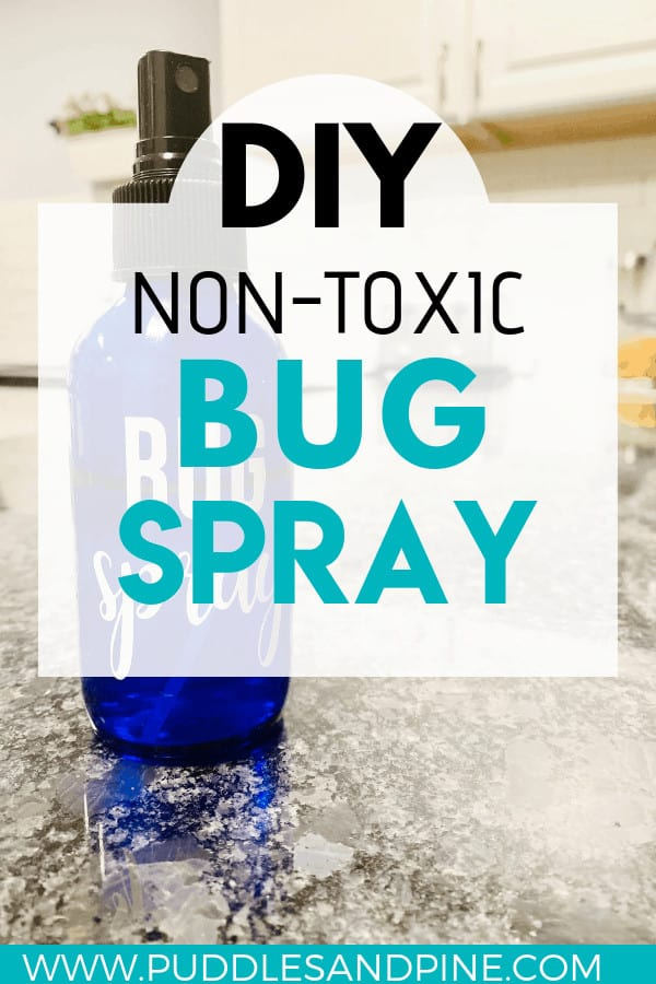 I absolutely love this non toxic DEET free diy natural bug spray. It works wonders and is 100% safe for children too! It is an all natural bug spray with essential oils known for their bug repelling properties. One of the other great benefits of repelling mosquitos with essential oils is that it smells amazing! No more harsh chemicals being breathed in, just all natural goodness. #bugspray #insectrepellent #diy #essentialoils #allnatural #natural