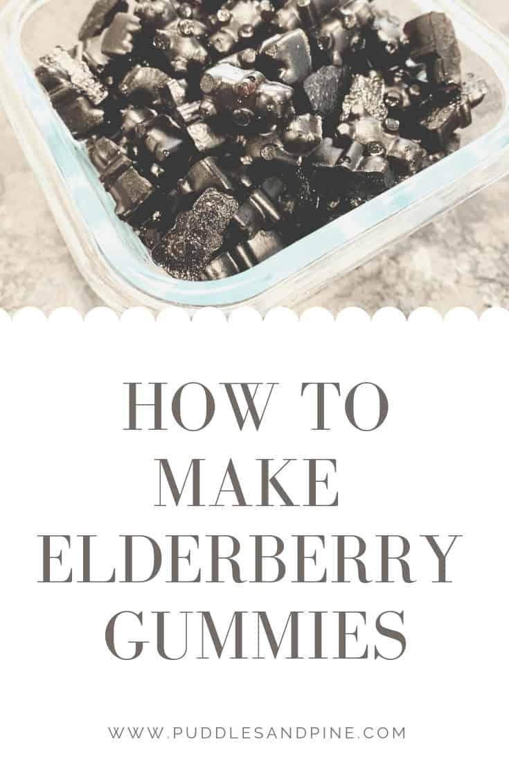 I absolutely love these homemade elderberry gummies for kids and adults alike. They are tasty and easy to make and completely all natural. I especially wanted to make DIY elderberry gummy bears for toddlers because they are notoriously hard to please when it comes to medicine. But these gummies are a great cold prevention for children and they think they are getting candy! #health #elderberrysyrup #healthy
