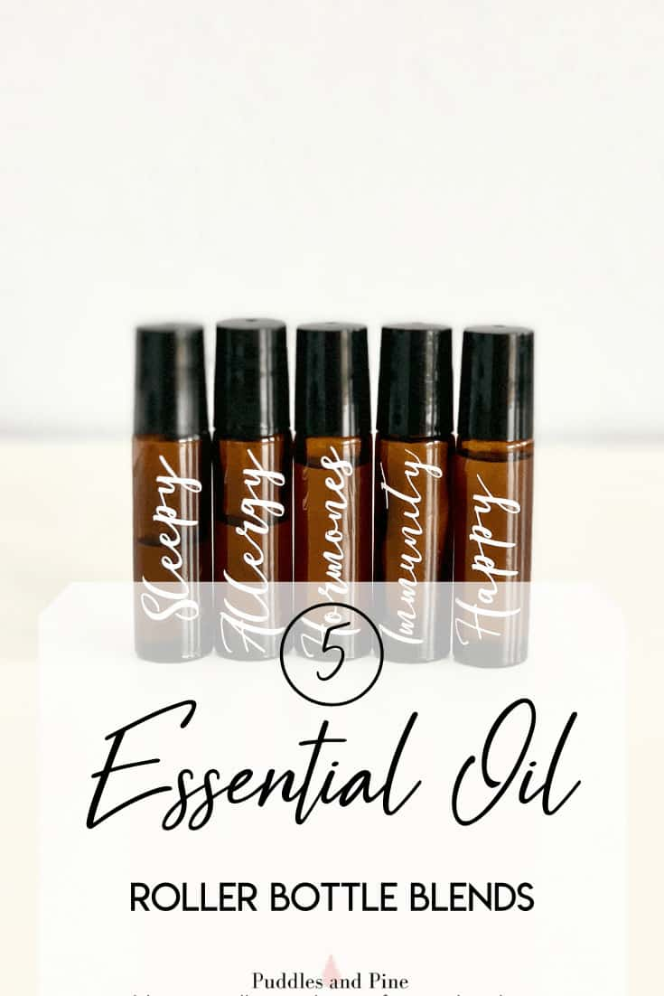 There is pretty much an essential oil roller bottle for everything. I love to find new ways to come up with essential oil roller bottle ideas and they have become one of my favorite ways to use essential oils. Check out how to make DIY essential oil roller bottles! #essentialoils #rollerbottles