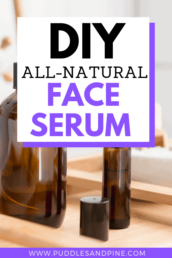 This homemade DIY face serum is perfect for all skin types. It will help fight wrinkles and promote skin softening and anti aging properties while also preventing acne! #essentialoils #skincare #skin