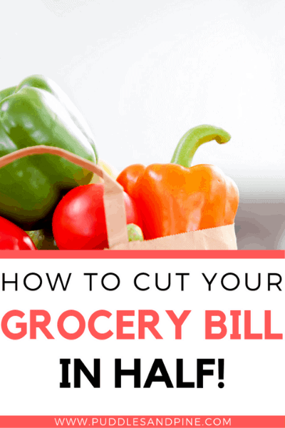 Check out these tips on how to cut your grocery bill in half! All it takes is a little prep work and you can learn how to spend less money on your groceries without sacrificing the quality of your food. You can eat better food for less money and have more money for the rest of your budget! #savemoney #grocery #savings