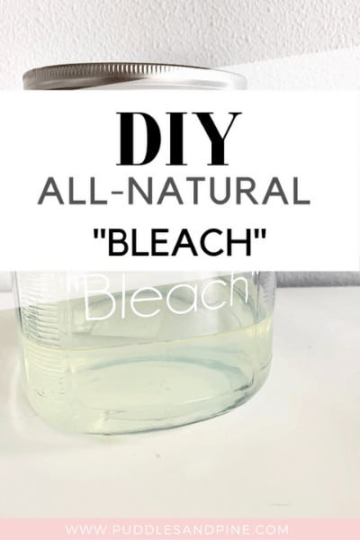 This all natural non toxic DIY bleach works so incredibly well, I will never go back to traditional bleach! I never thought you could efficiently whiten laundry without chemicals, I just accepted that it would always take harsh ingredients to get the job done. Keep reading to learn how to make non toxic bleach with essential oils! #essentialoils #allnatural #healthy #cleaner #laundry
