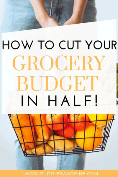 Check out these tips on how to cut your grocery spending in half! All it takes is a little prep work and you can learn how to spend less money on your groceries without sacrificing the quality of your food. You can eat better food for less money and have more money for the rest of your budget! #savemoney #grocery #savings