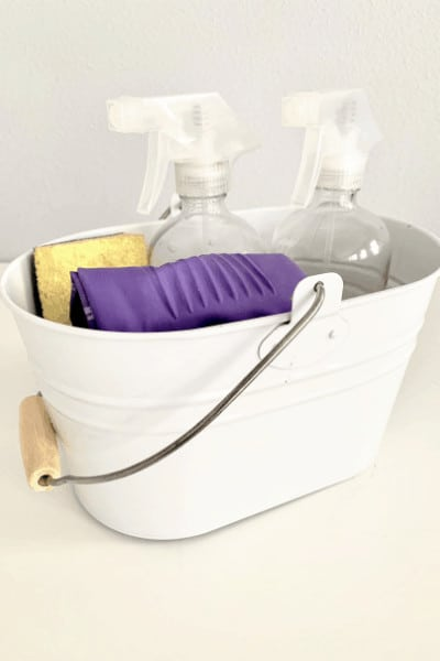home cleaning bucket organization