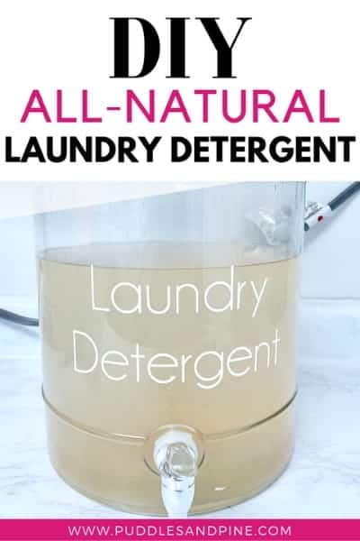 This homemade non toxic thieves laundry detergent is so incredibly easy to make and after using it, you won't want to go back to store bought versions. This is a cheap and easy homemade laundry detergent that requires minimal effort and the best part? It only costs about 8¢ per load! Keep reading to learn how to make this diy laundry soap with no harmful chemicals.