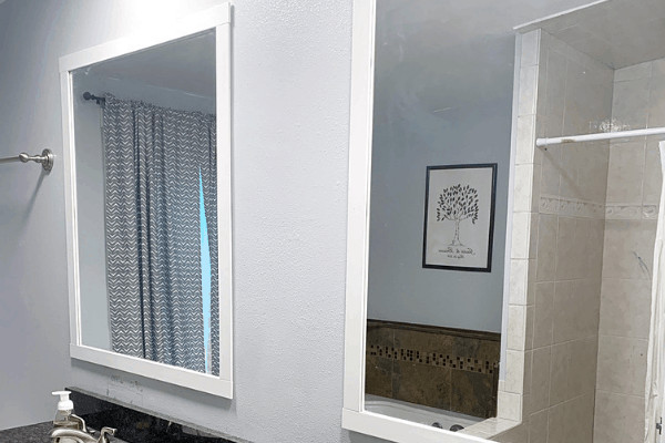 cheap diy framed mirrors
