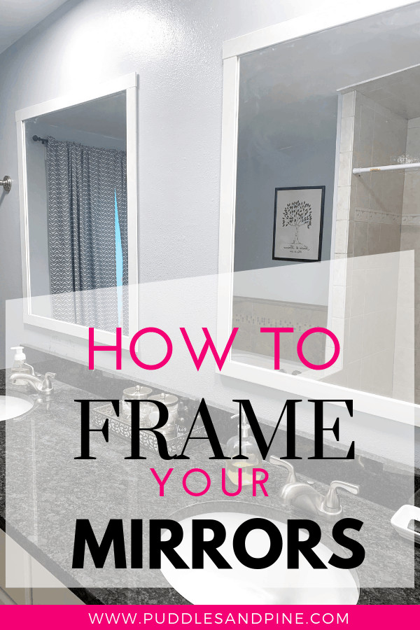 These cheap DIY framed mirrors are so easy to make, anyone can do it! As far as inexpensive bathroom decor ideas go, these easy DIY framed mirrors are a no brainer. I was looking for cheap farmhouse bathroom decor and stumbled on the idea of framing mirrors and I knew I could come up with a super simple way to do it. If you want to learn how to frame your mirrors the super lazy way, then keep reading!