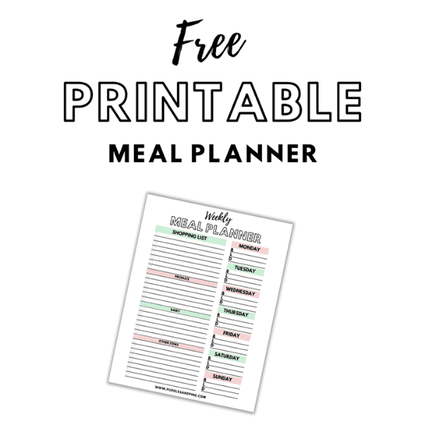 Meal Planning The Easy Way