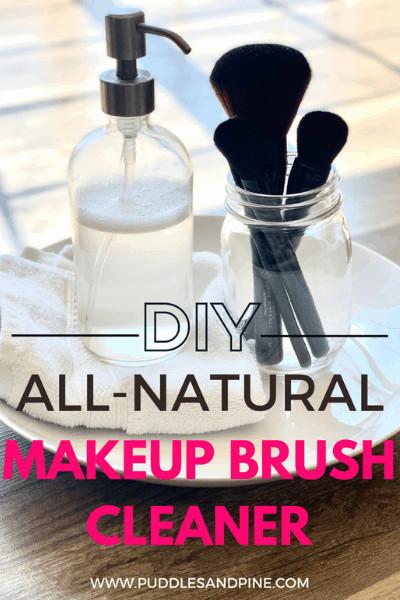 diy all natural makeup brush cleaner