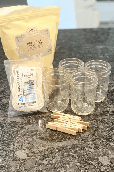 supplies to make beeswax candles